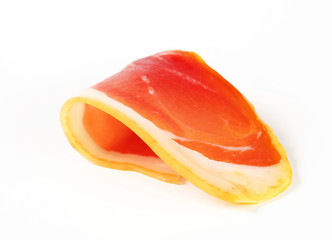 Slice of prosciutto crudo