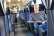 Leinwanddruck Bild - Train ticket check.