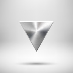 Abstract Triangle Button Template with Metal Texture