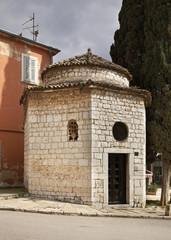Chapel of the Holy Trinity in Rovinj. Istria. Croatia
