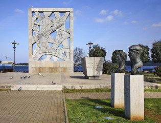 Monument to the victims of fascist terror in Rovinj. Croatia