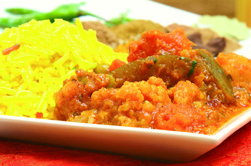 traditional curry in dish