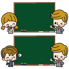 学生 先生 黒板