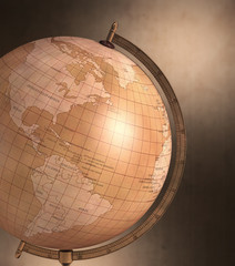 Globe Vintage. Clipping path included.