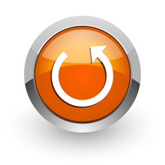 rotate orange glossy web icon