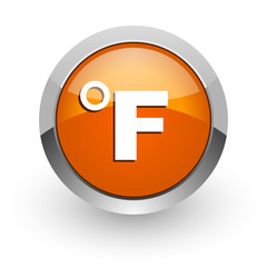 fahrenheit orange glossy web icon