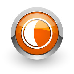 moon orange glossy web icon