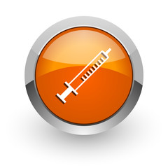 medicine orange glossy web icon