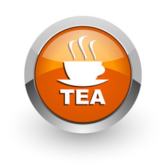 tea orange glossy web icon