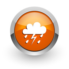 storm orange glossy web icon