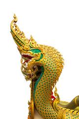 Golden Naga statue of Thailand
