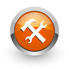 tool orange glossy web icon