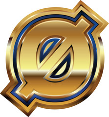 Golden Font Number 0