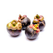 Isolated fresh mangosteen
