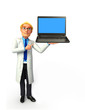 Young Doctor with laptop