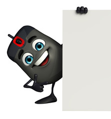 Computer Mouse Character with sign