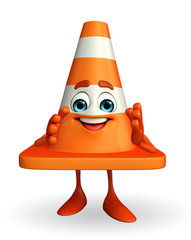 Construction Cone Character with