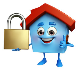 House character with lock