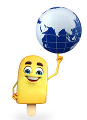 Candy Character With globe