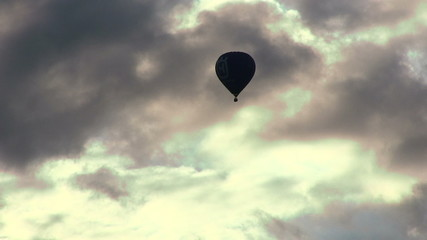 Balloon flying in the sky