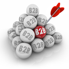 B2B Ball Pyramid Targeting Companies Business Sales
