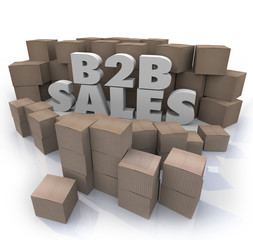 B2B Sales Cardboard Boxes Business Selling Orders