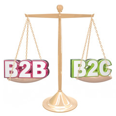 B2B vs B2C Selling to Business or Conumers Letters on Scale