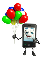 Mobile character with Balloon