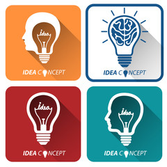 light bulb idea icon ,vector illustration