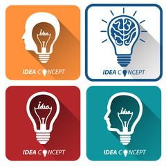 light bulb idea icon ,vector illustration