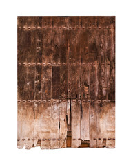 Vintage double wooden door
