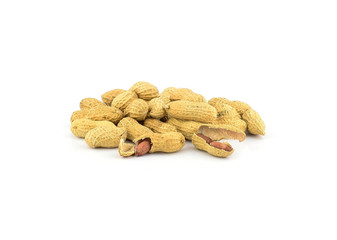 Peanuts Isolated on a white background.