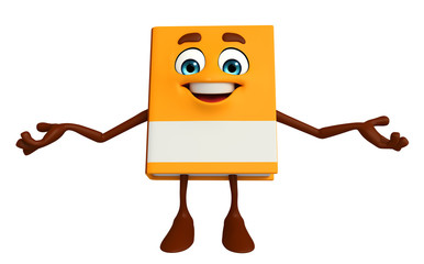 Book Character with happy pose