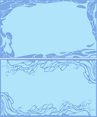 set of blue abstract backgrounds