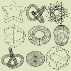 Geometry Wireframe ,3d