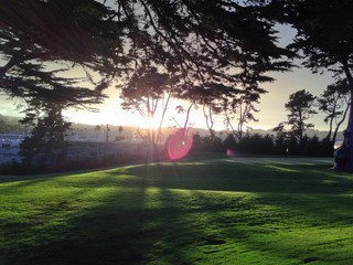 A Golf Day's Sunset Glare