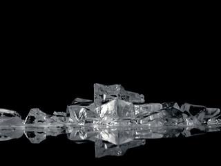 ice fantasy on black
