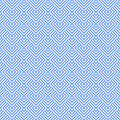 Seamless blue geometric texture.