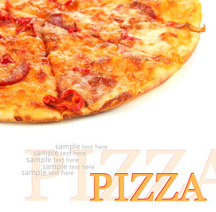 Tasty pepperoni pizza
