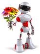 canvas print picture - Fun robot