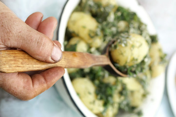 Hand with Spoon