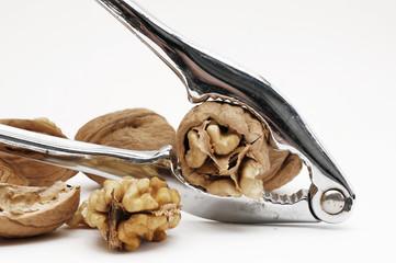 Nüsse mit Nußknacker