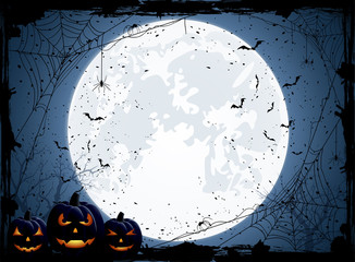Halloween blue background