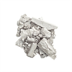 Silver eyeshadow isolated