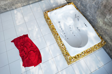 Urban Bathroom with towel