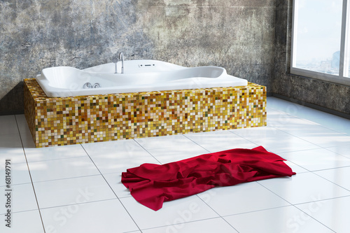 Leinwandbild Motiv Urban Bathroom with towel