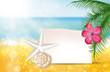 Spiaggia, mare, messaggio