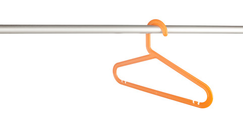 Clothes hanger on rack