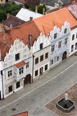 Renaissance buildings in Slavonice, Czech Republic