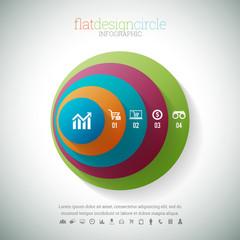 Flat Design Circle Infographic